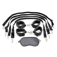 KIT BONDAGE FETISH FANTASY SERIES CUFF AND TETHER SET