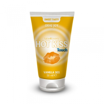 LUBRIFICANTE COMMESTIBILE LICK-IT HOT KISS TOUCH VANILLA GEL 50ML
